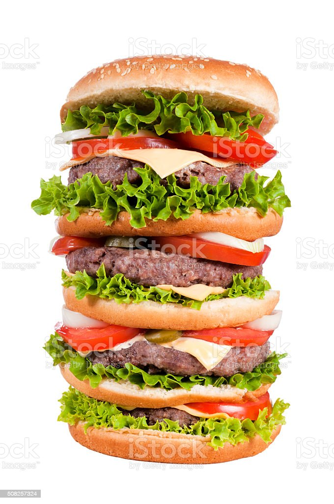 Big cheeseburger stock photo