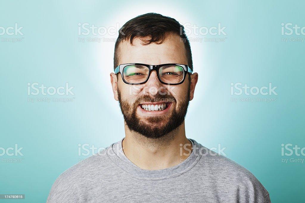 Big Cheesy Grin man royalty-free stock photo