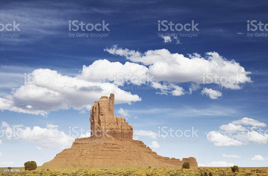 Big Chief Butte in Monument Valley on Navajo land in Arizona, USA.
