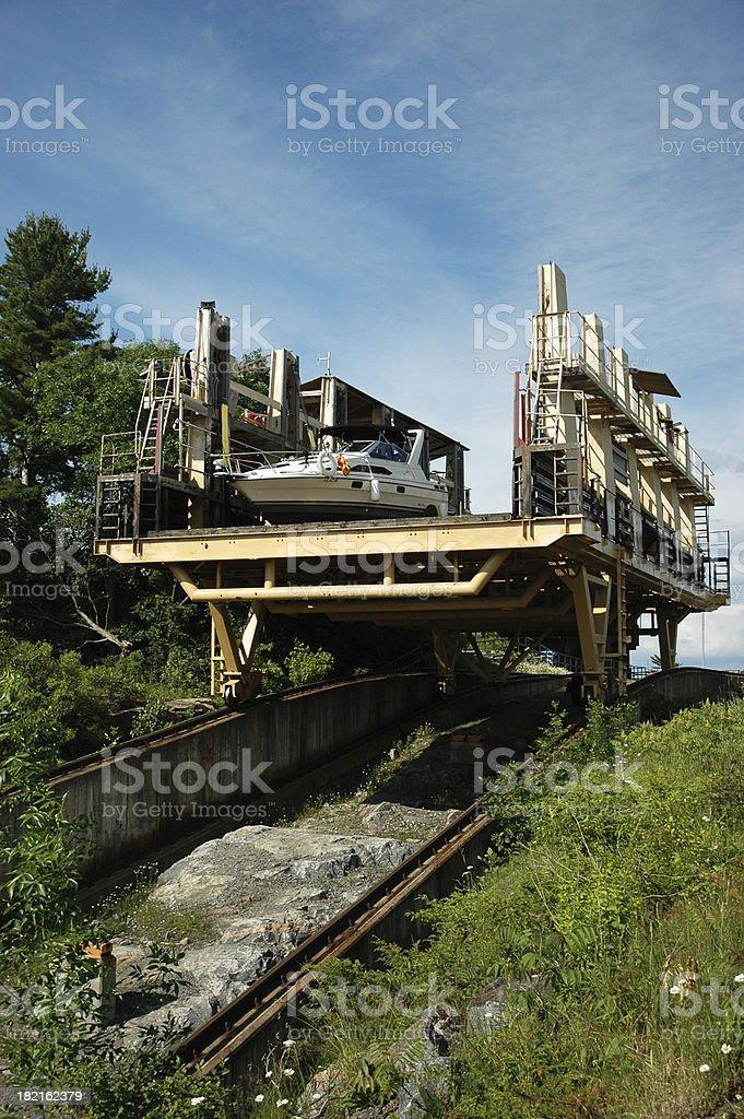 Big Chute marine railway stock photo