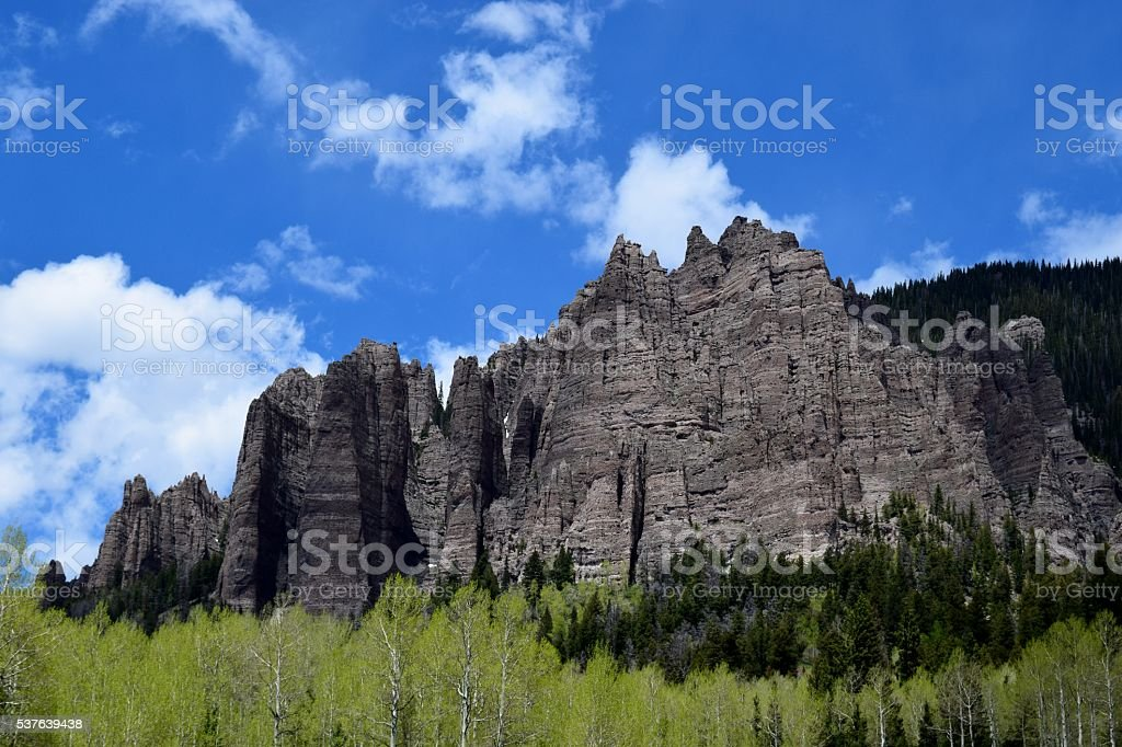 Big Cimarron Pinnacles stock photo