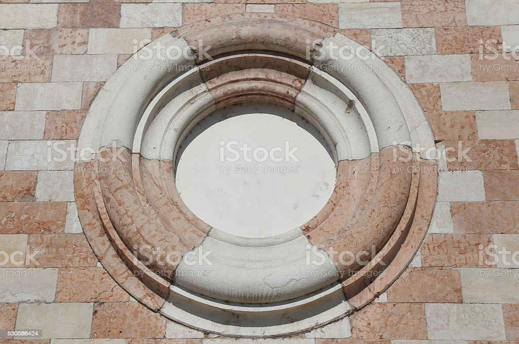 big Circle in the wall stock photo