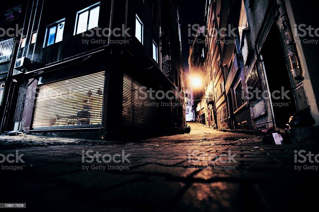 big city alleys stock photo