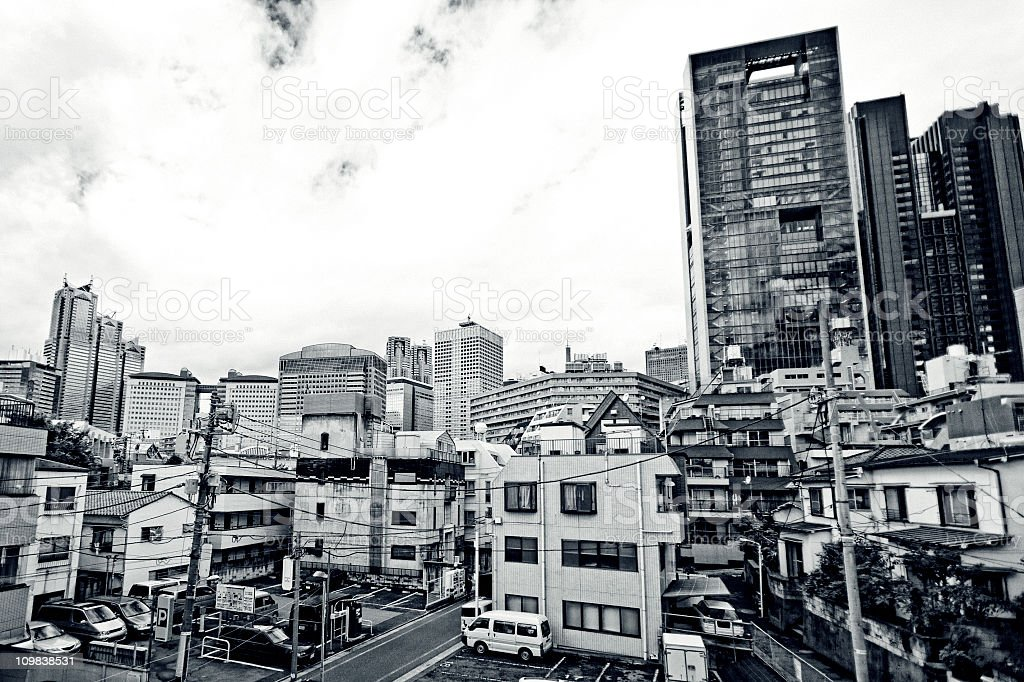 big city buildings stock photo
