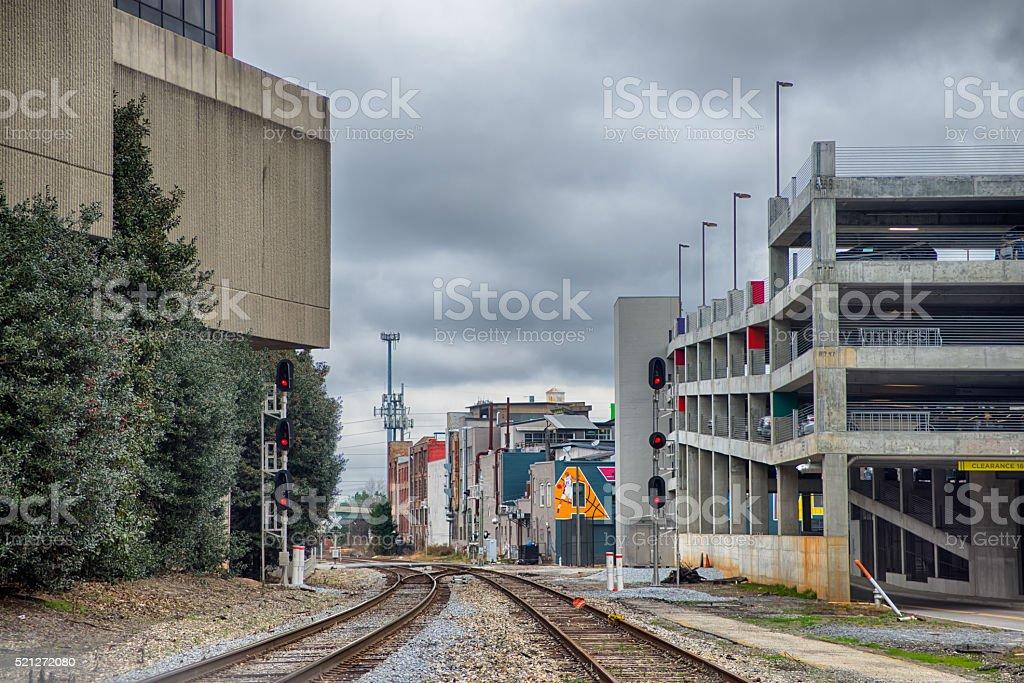 big city concrete jungle stock photo