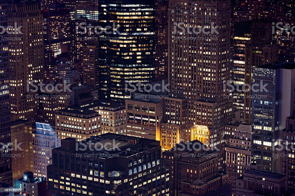 Big city never sleeps stock photo