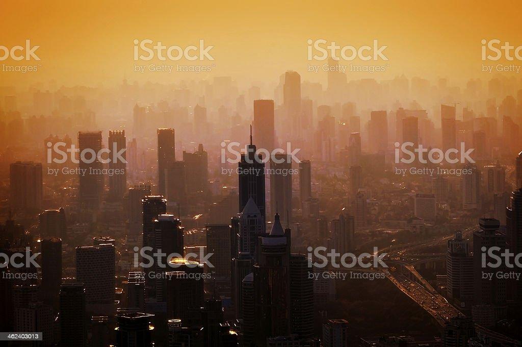 Big city - panorama stock photo