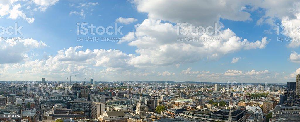 Big city panoramic vista stock photo
