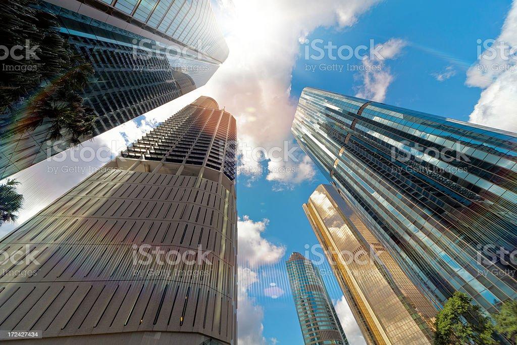 Big City Skyscrapers royalty-free stock photo