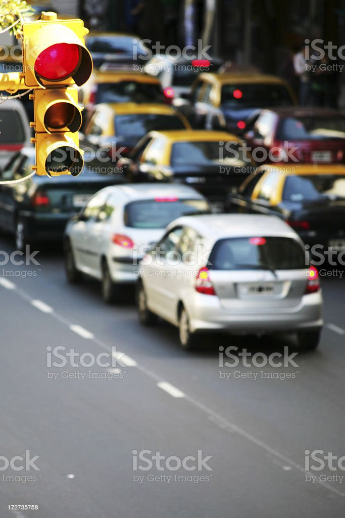 big city traffic royalty-free stock photo