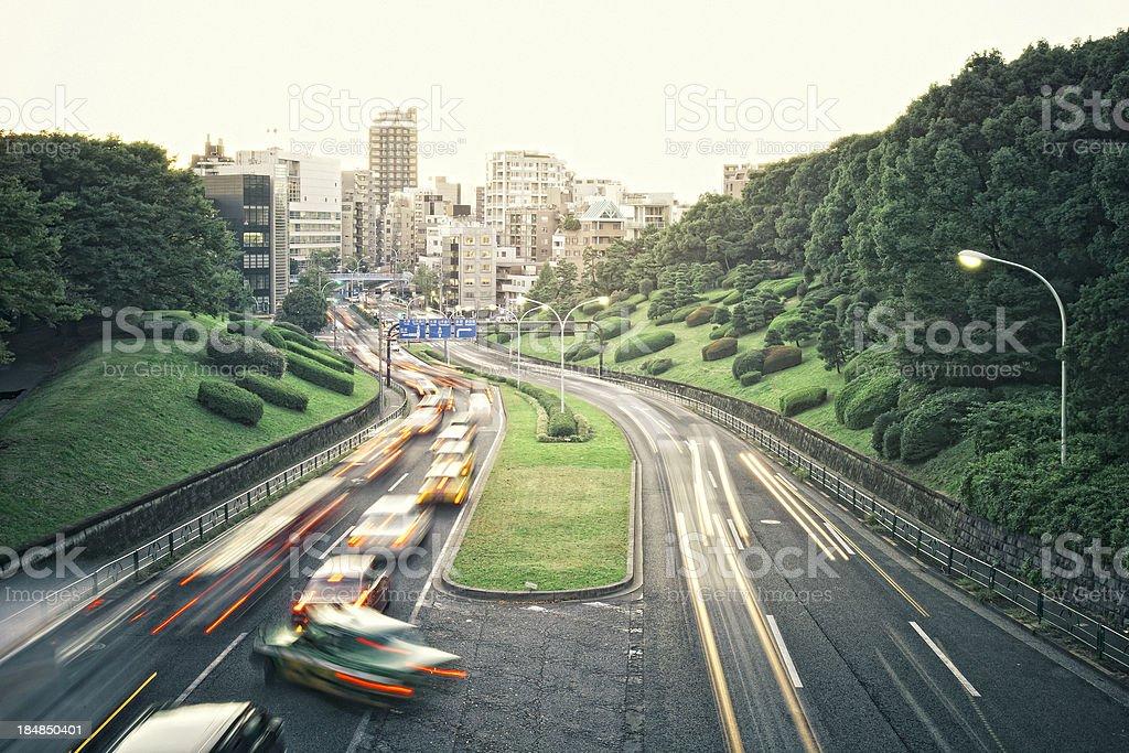 big city traffic royalty-free stock photo