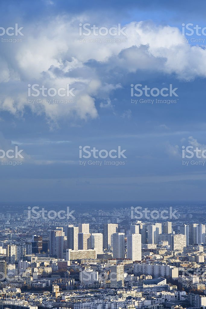 big city under high blue sky royalty-free stock photo