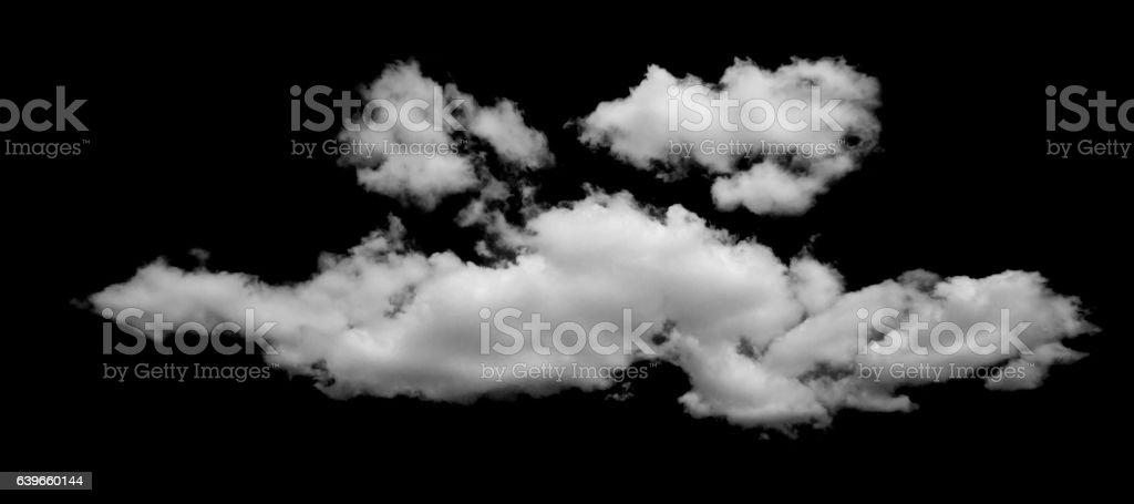 Big cloud on black background stock photo