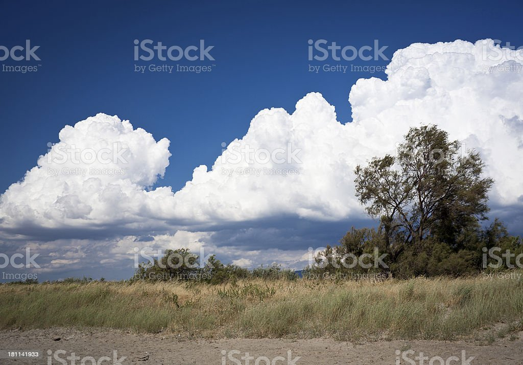 Big Clouds royalty-free stock photo