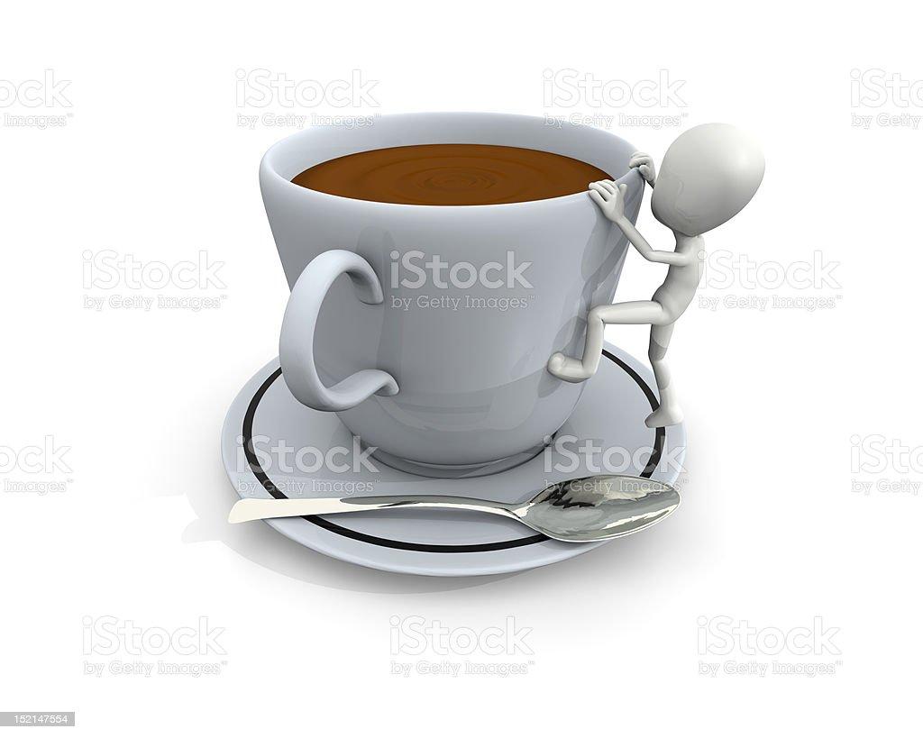 Big café foto de stock libre de derechos