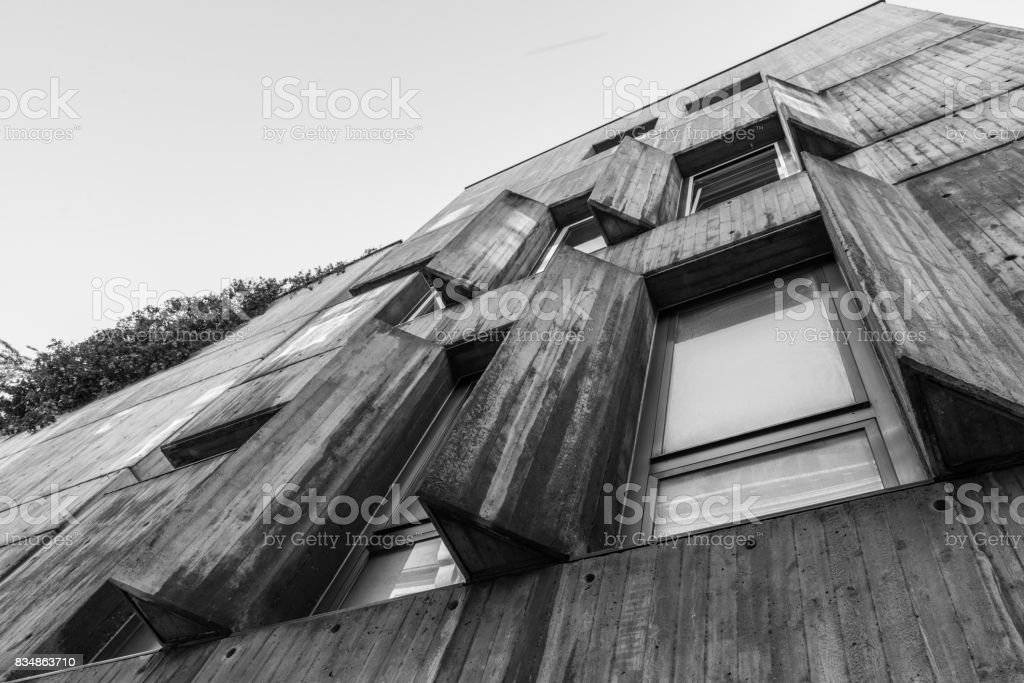 Big concrete walls of a house stock photo