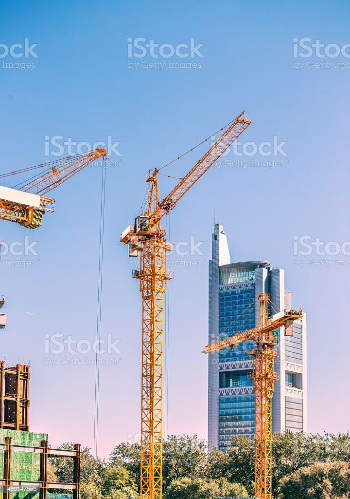 Big construction site stock photo