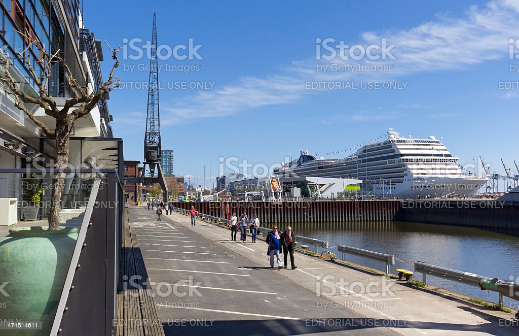 Big cruise liner MSC Magnifica stock photo