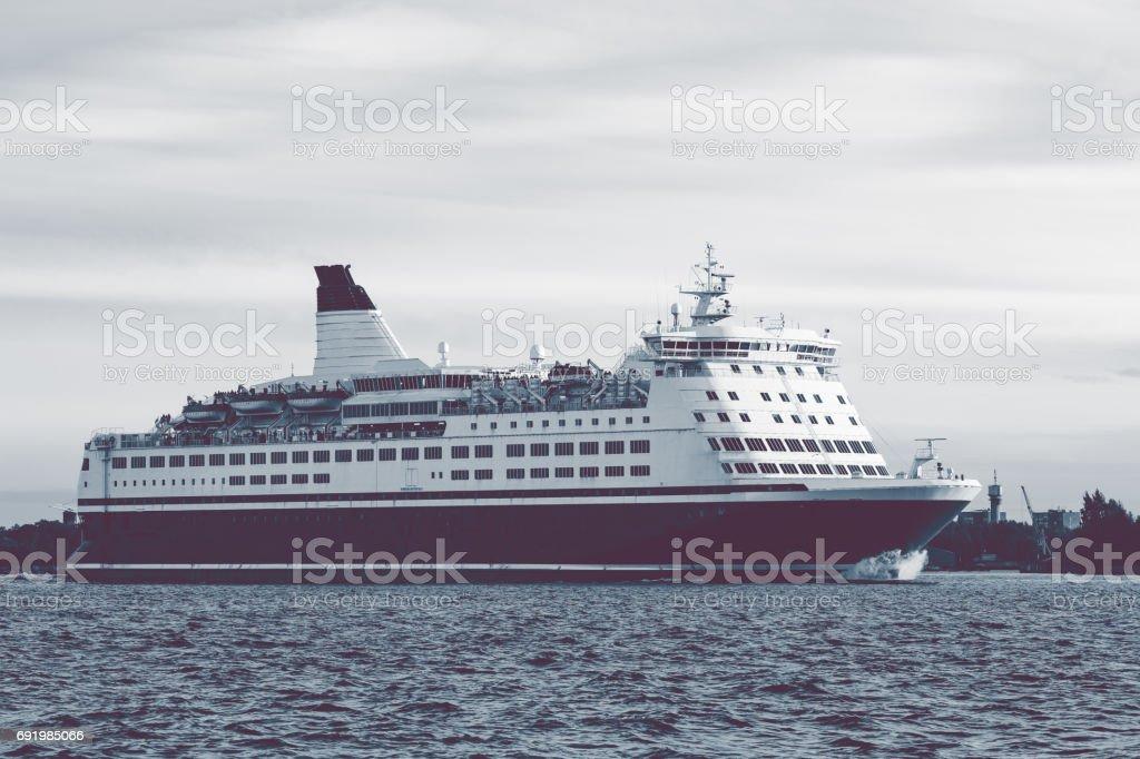 Big cruise liner stock photo