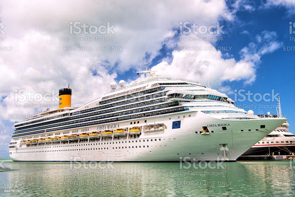 Big cruise ship Costa Magica stock photo