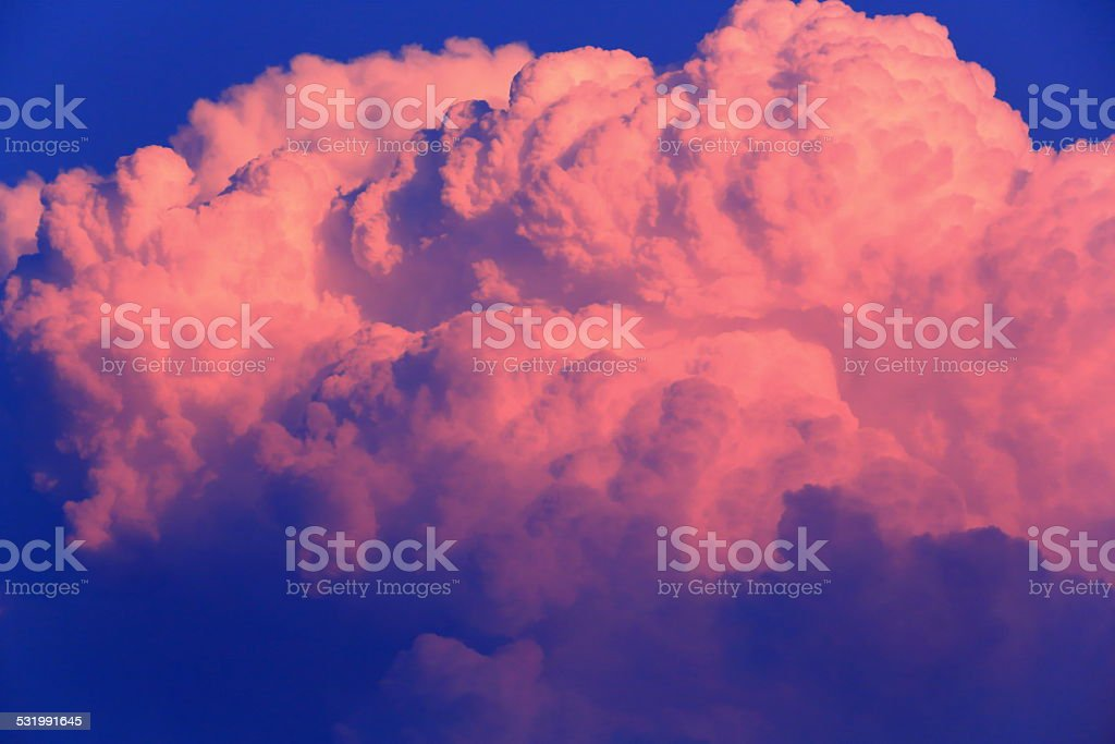 Big curious cloud over Chitwan-Nepal. 0932 stock photo