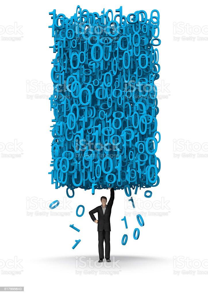 Big data businessman stock photo