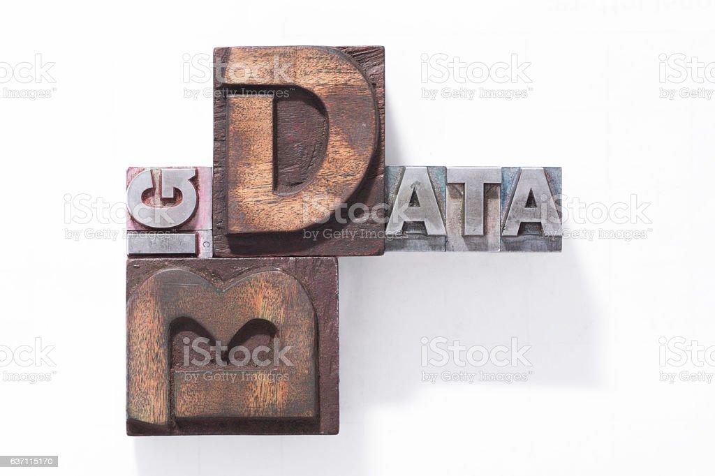 Big data logo stock photo