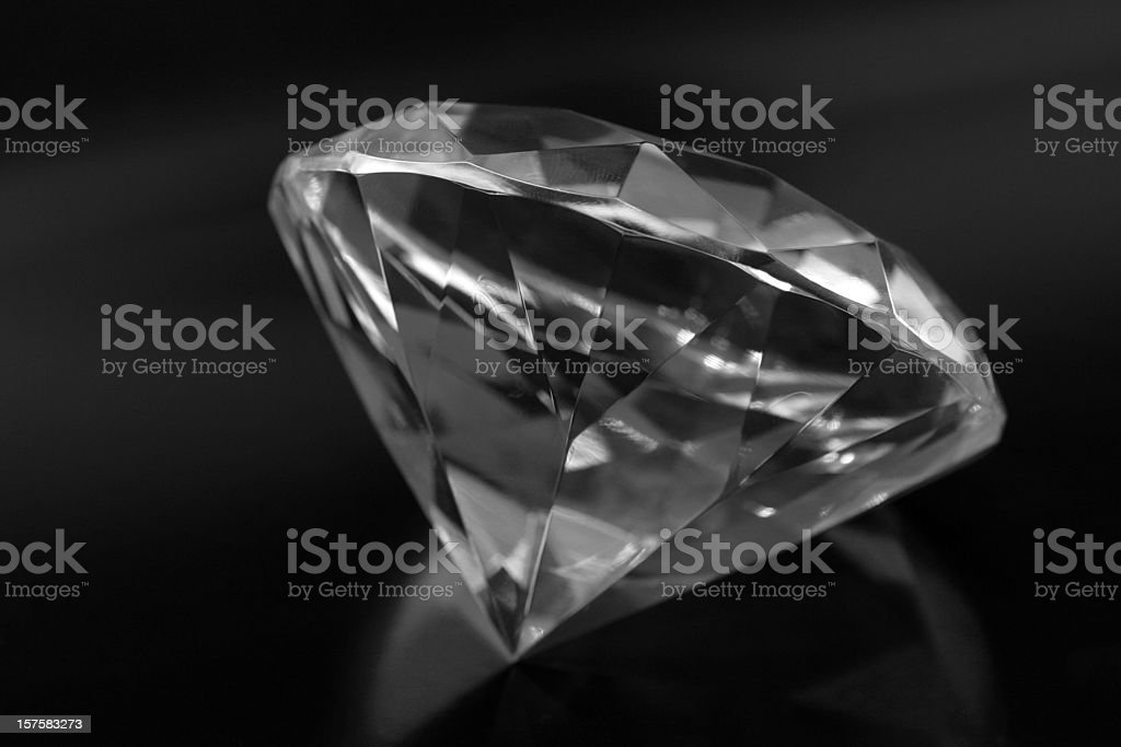 Big diamond, isolated on black royalty-free stock photo