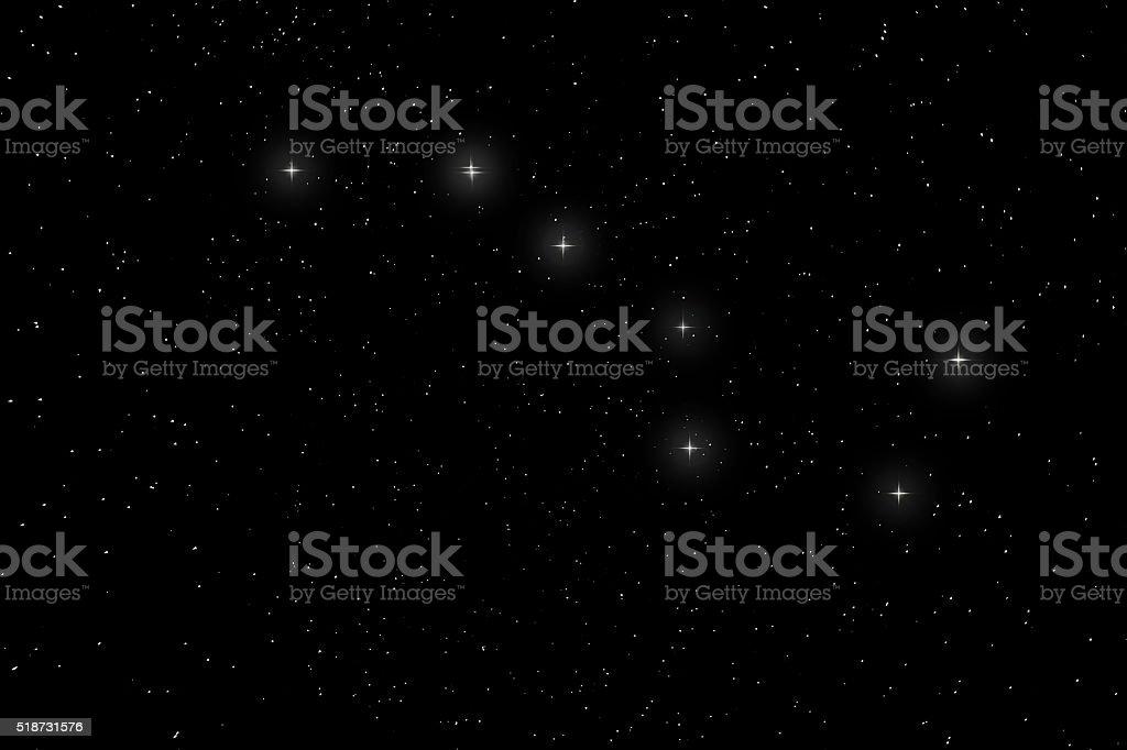 Big Dipper Constellation, Ursa Major, The Great Bear stock photo