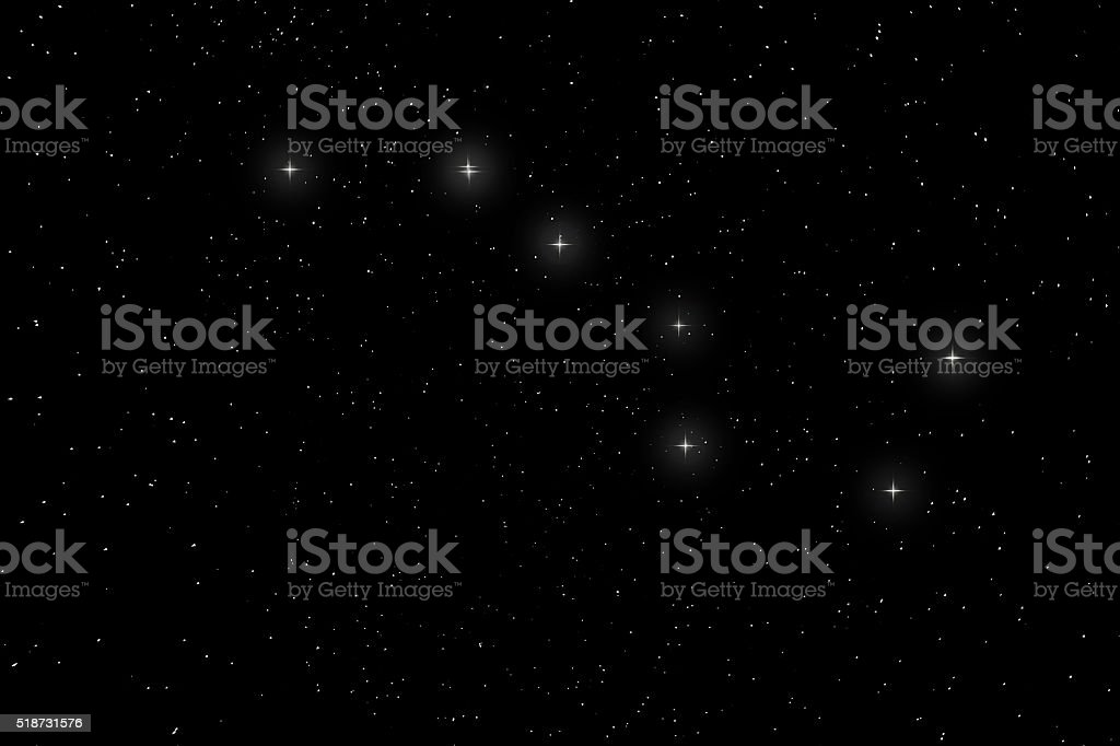 Big Dipper Constellation, Ursa Major, The Great Bear stock photo