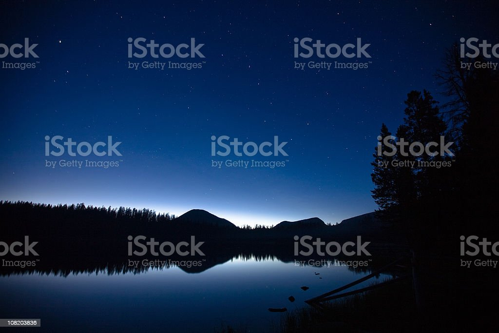 Big Dipper pouring into Mirror Lake royalty-free stock photo
