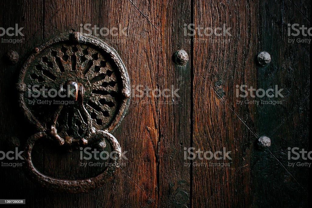 big door knocker stock photo