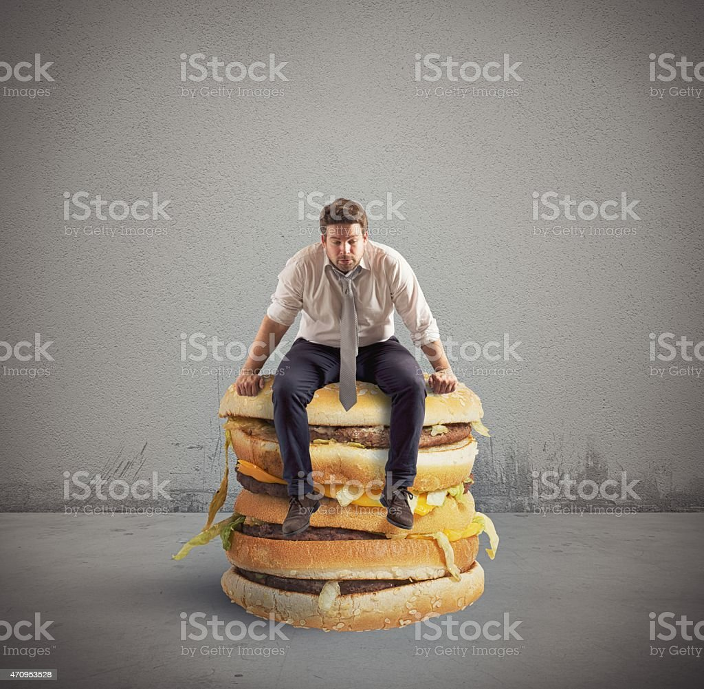 Big double sandwich stock photo