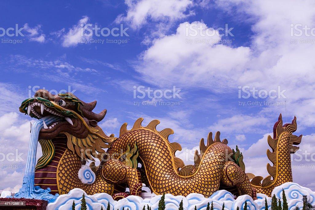 Big dragon statue stock photo