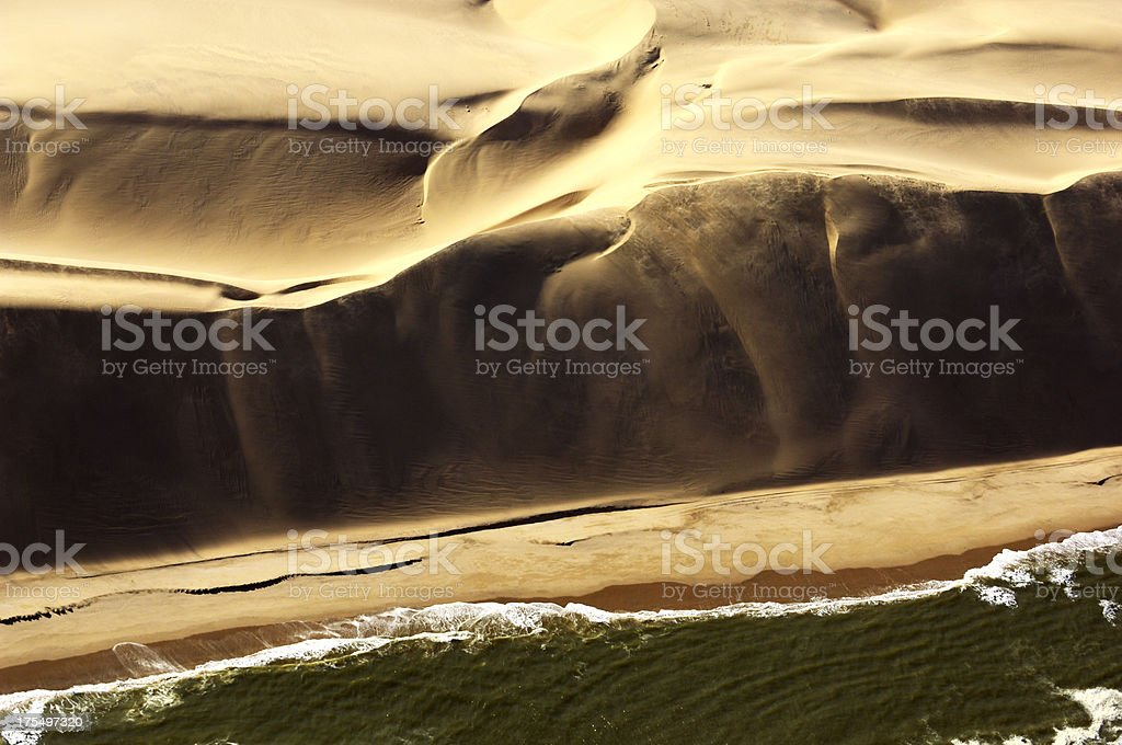 Big dunes and the ocean stock photo