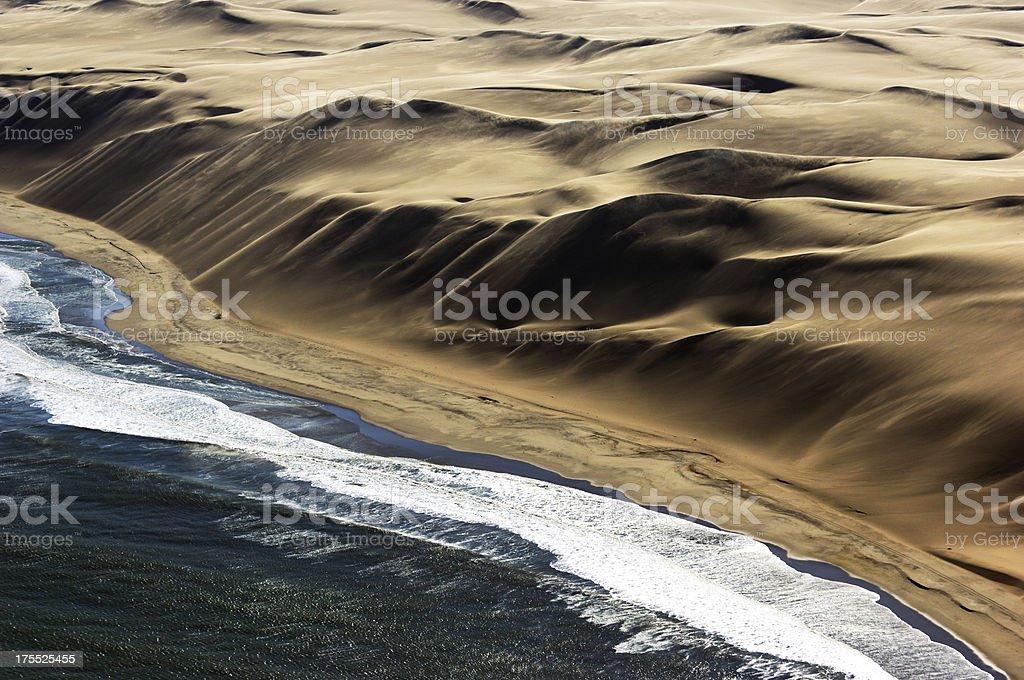 Big dunes at the atlantic ocean stock photo