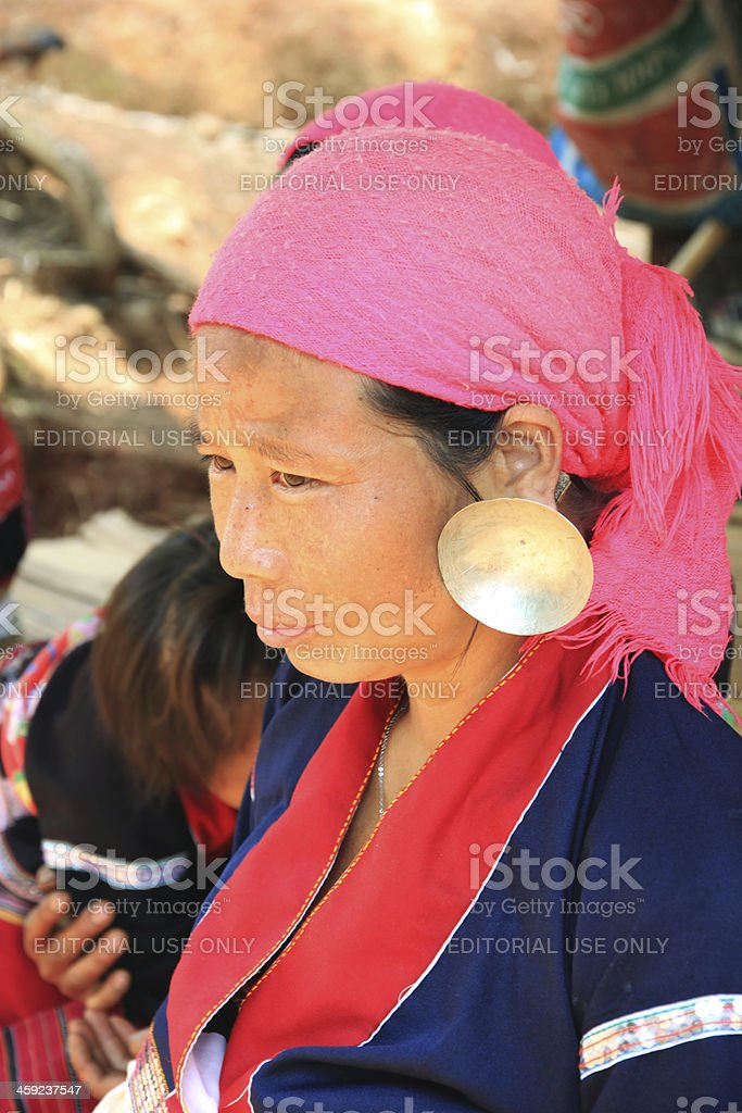 Big Ear Tribe Woman royalty-free stock photo