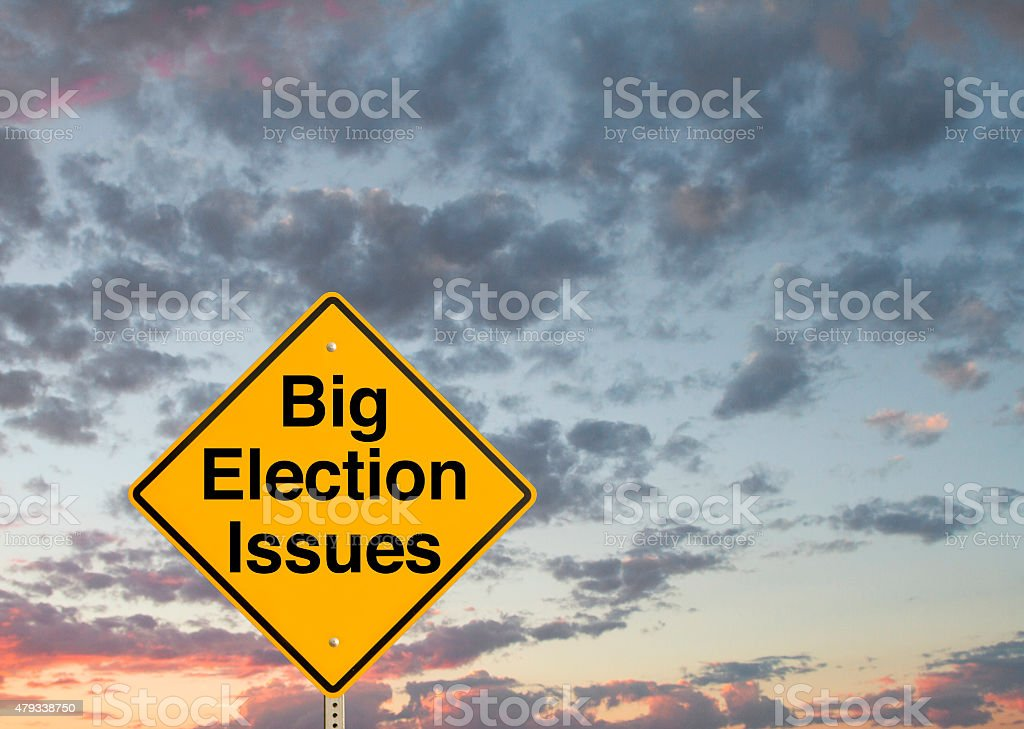 Big Election Issues stock photo