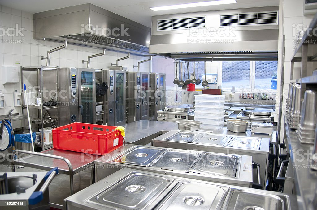 big empty canteen kitchen with no people royalty-free stock photo