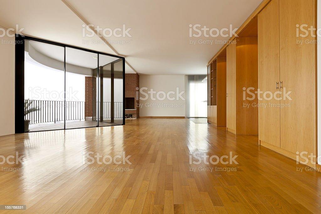 big empty room stock photo
