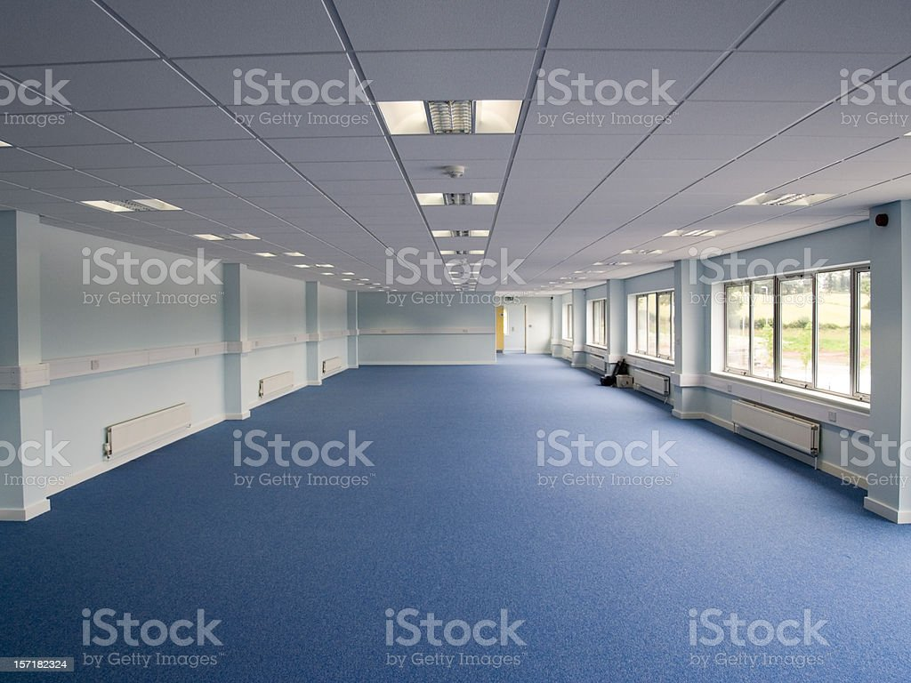 Big empty room to be used for office space royalty-free stock photo