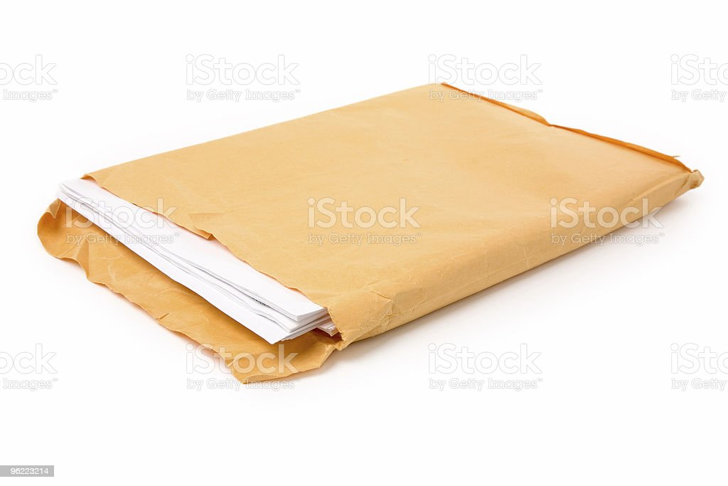 big envelope and document stock photo