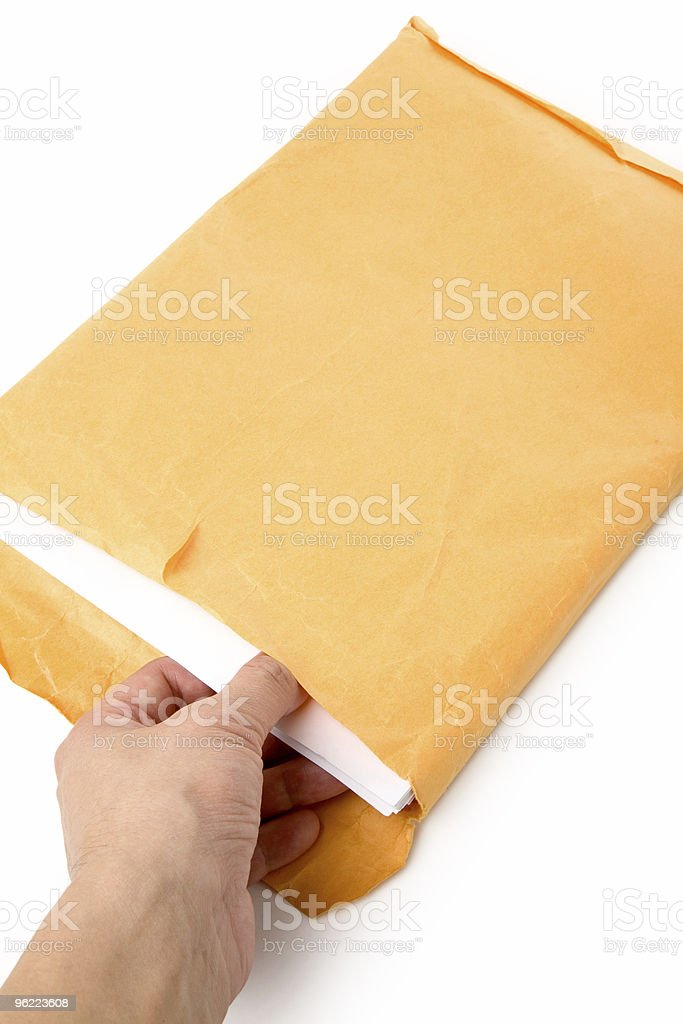 big envelope and document royalty-free stock photo