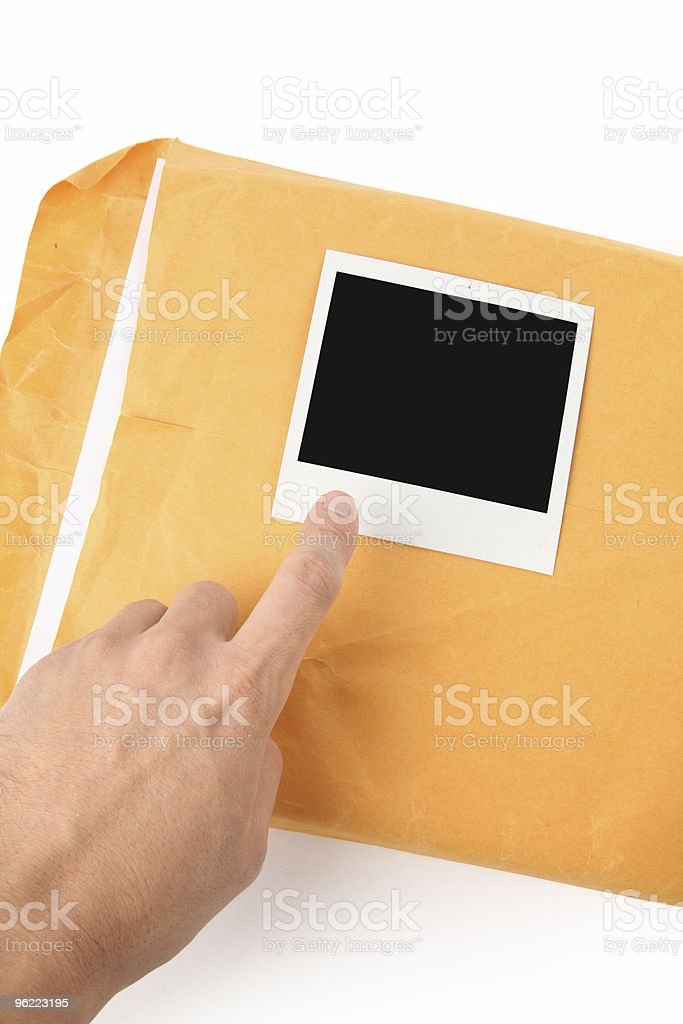 big envelope and photo royalty-free stock photo