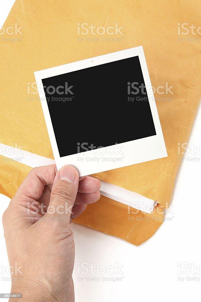 big envelope and photo royalty-free stock photo