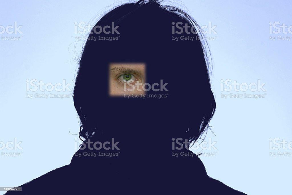 Big eye is watching you stock photo