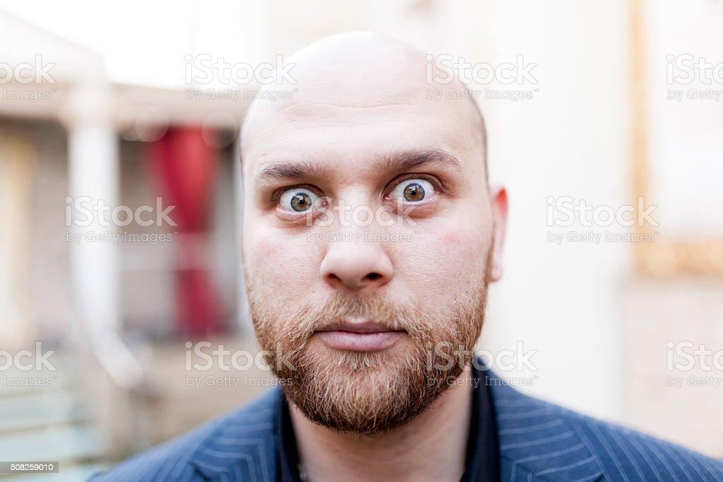 Big Eyes Man stock photo