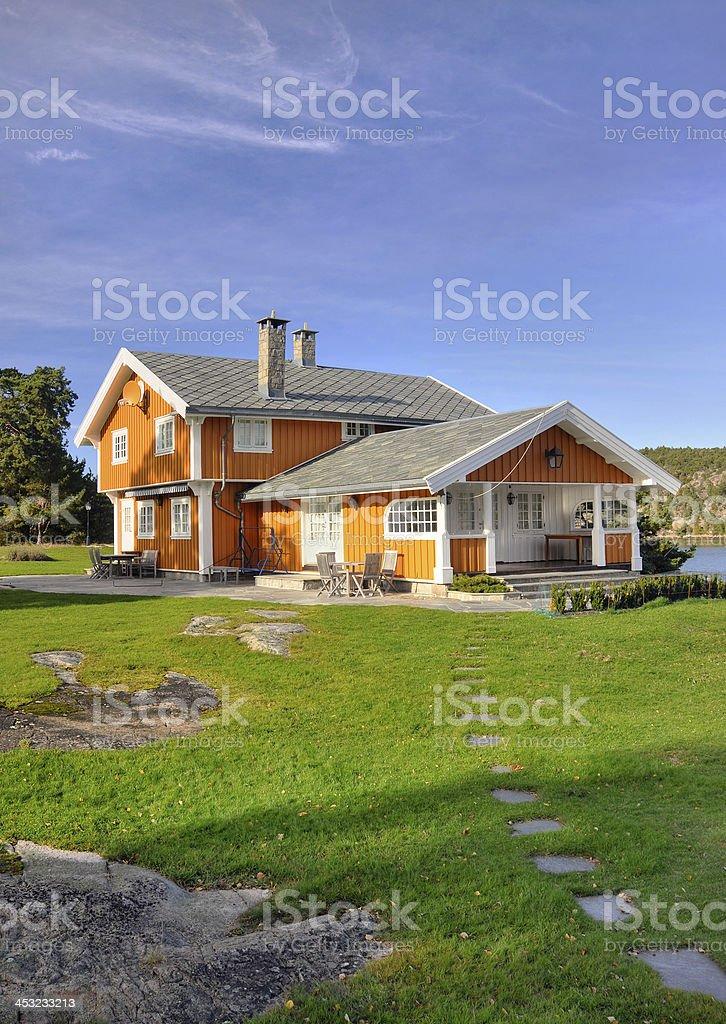 Big family house stock photo