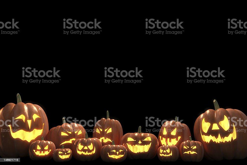 Big family of pumpkins stock photo