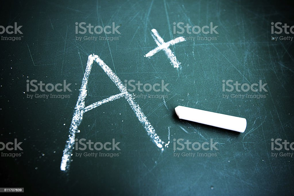 Big Fat A+ stock photo
